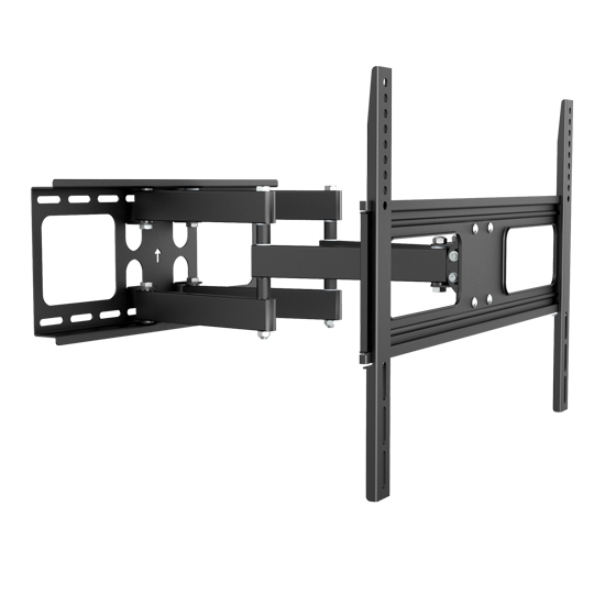 Brateck Economy Solid Articulating Wall Mount Bracket for 37-70 Inch Curved & Flat Panel TVs or Monitors - Up to 50kg