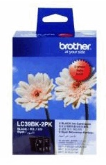 Brother Ink Cartridge Black Twin Pack - LC39BK2PK