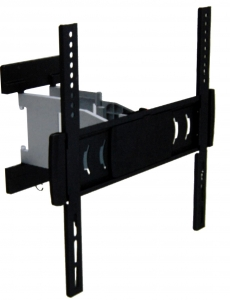 Brateck Super Slim Aluminum Full-Motion Wall Mount Bracket for 23-55 Inch Curved & Flat Panel TVs or Monitors - Up to 30kg