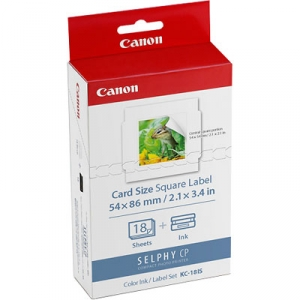 Canon KC-18IS Colour Ink/Square Label Kit