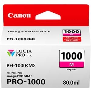 Canon Lucia Pro PFI-1000M Magenta Ink Cartridge - 80ml