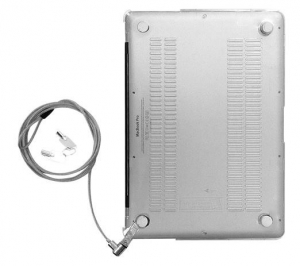 Compulocks MacBook Pro Retina 13 Inch Security Cable Lock & Case Bundle - Clear
