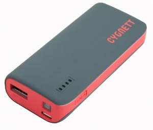 Cygnett ChargeUp Sport Powerbank 4400mAh 1 Amp - Grey with Red