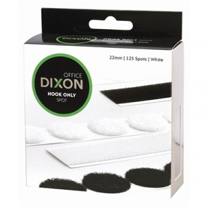 Dixon Hook Only 22mm White Velcro Spots - 125 Pack