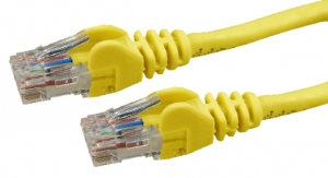 DYNAMIX 1.5M Cat6 Yellow UTP Patch Lead (T568A Specification) 550MHz Slimline Snagless Molding Cable