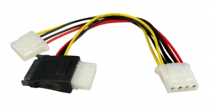 Dynamix Dual Port Serial ATA Power Splitter Cable