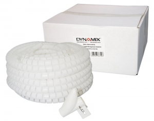 Dynamix 20 Meter x 20 mm Easy Wrap - Cable Management Solution, White Colour