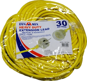 DYNAMIX 30M Heavy Duty Power Extension Lead. Supplied in Retail Packaging