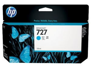 HP 727 130-ml Cyan Ink Cartridge