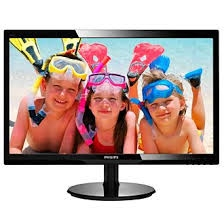 Philips 246V5LHAB 24 Inch 5ms 16.7M LCD Monitor with Speakers - VGA HDMI