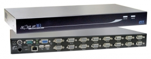 Rextron 1 port IP KVM Switch plus 16 port USB & PS/2 KVM switch 12x 1.8M & 4x 3M USB 2in1 Cables included