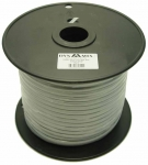 Dynamix 100M Roll 4 Wire Flat Cable. Silver colour on a plastic reel