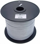 Dynamix 100M Roll 4 Wire Flat Cable. White colour on a plastic reel