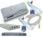 2 Port Entry Level PS/2 KVM Switch - 2 PC PS/2 with Mic & Speaker support