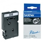 Brother P-Touch TC395 9mm White on Black Label Tape