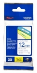 Brother P-Touch TZE233 12mm Blue on White Label Tape