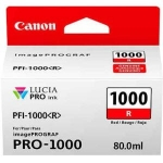 Canon Lucia Pro PFI-1000R Red Ink Cartridge - 80ml