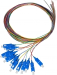 Dynamix 2M SC Pigtail OM4 Colour Coded Cables - 12 Pack