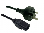 Dynamix 0.75M 3 Pin Plug to IEC Female Plug 10A, SAA Approved Power Cord BLACK Colour