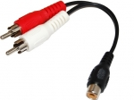 Dynamix 150mm Dual RCA Male to RCA Female Cable