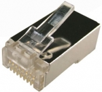 Dyanmix Cat 6 RJ-45 8P8C Modular Plug 15U with insert (Stranded-Shielded-Round) - 100 Piece Jar