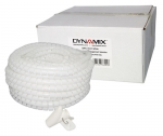 Dynamix 20 Meter x 15 mm Easy Wrap - Cable Management Solution, White Colour, Includes Tool