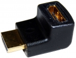 Dynamix HDMI Right Angled Adapter High Speed with Ethernet GOLD Plated Connectors