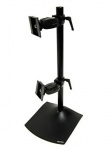 Ergotron DS100 Dual-Monitor Vertical Desk Stand - Black