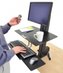 Ergotron WorkFit-S Sit-Stand Single HD with Worksurface