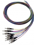 Dyanmix 2M ST Pigtail OS1 12 Pack Colour Coded, 900um Single mode Fibre, Tight buffer
