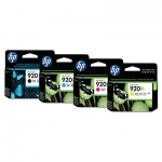 HP 920XL 4-Colour High Yield Ink Cartridge Combo Pack - Black Cyan Magenta Yellow