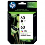HP 60 Black & Tri-Colour Ink Cartridge Combo Pack