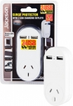 Jackson Single Surge Power Plug with 2 x USB Charging Outlets