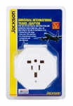 Jackson Inbound Travel Adaptor with Surge Protection for Converting USA, UK & European Plugs to NZ & Australia - Dual Plugs