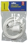 Jackson 3M Power Extension Lead Supplied in Retail Packaging