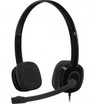 Logitech H151 Stereo Noise Cancelling Headset - Black
