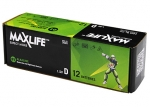 Maxlife D Alkaline Battery 12 Pack