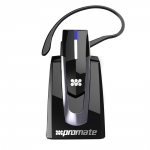 Promate BlueGear Multi-Function Wireless Headset with Docking Station - Black