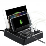 Promate Terminal 6 Port USB Charging Station with Universal Power Socket & Stand