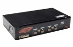Rextron 4 port Display Port USB KVM with Audio