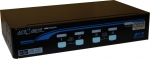 Rextron 1-4 USB/PS/2 Hybrid KVM Switch - Black