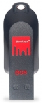 Strontium Pollex 8GB USB 2.0 Flash Drive - Black/Red