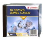 Verbatim CD/DVD Empty Jewel Cases - 10 Pack