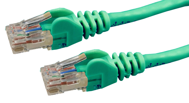 DYNAMIX 2M Cat6 Green UTP Patch Lead (T568A Specification) 550MHz Slimline Snagless Molding Cable