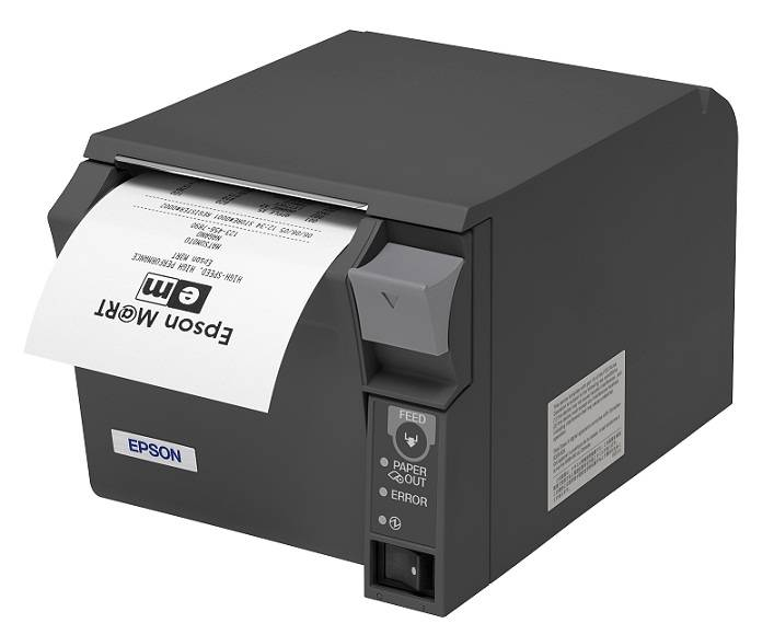 Epson TMT70 USB Thermal Receipt Printer - Black (Dark Grey)