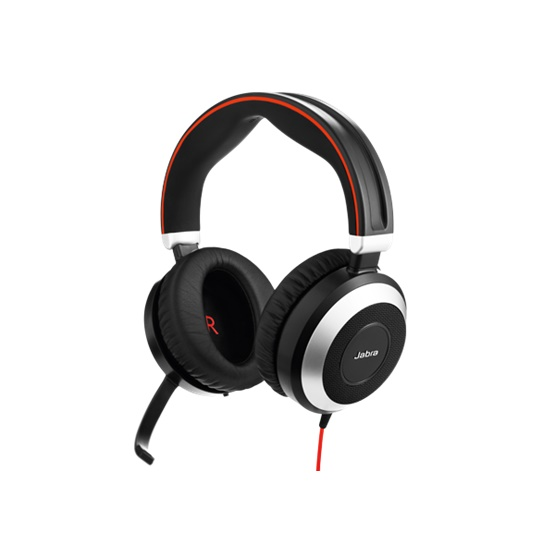 Jabra Evolve 80 UC MS Wired Duo Headset - Optimised for Microsoft Skype for Business