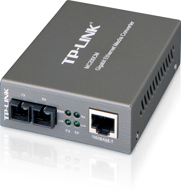 TP-Link TL-MC200CM Gigabit Ethernet Media Converter (SC, multi-mode) Extends Up to 550 meters