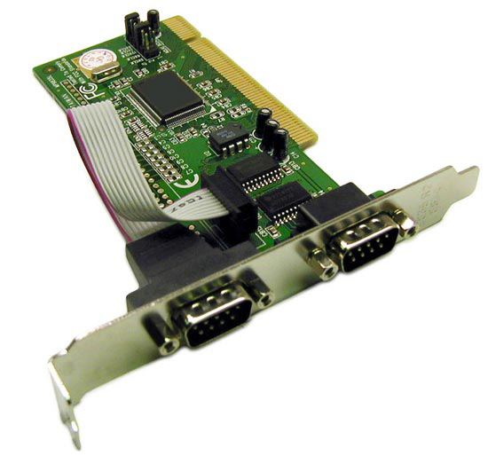 PCI Dual Port Serial Card Incorporating FIFO UART Incorporates 2 x DB9 Male Ports