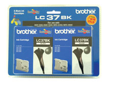 Brother LC37BK2PK Black Ink Cartridges - Twin Pack