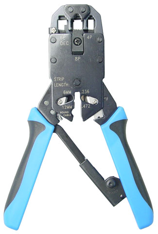 H Tools RJ-45/ RJ12/RJ11/DEC Modular RJ-14 Crimping Tool - Professional Series Includes Stripping function